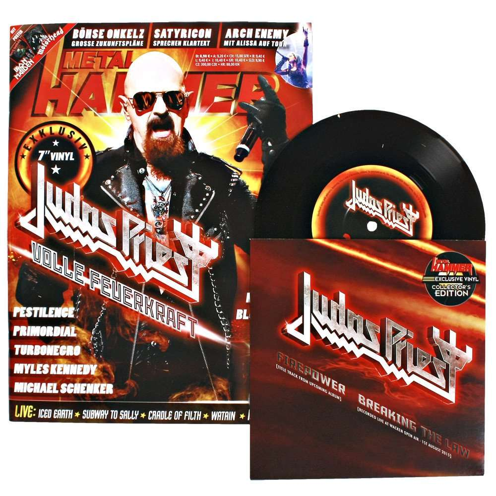 Judas Priest Firepower / Breaking The Law (7') Ltd Promo With Magazine -Ger