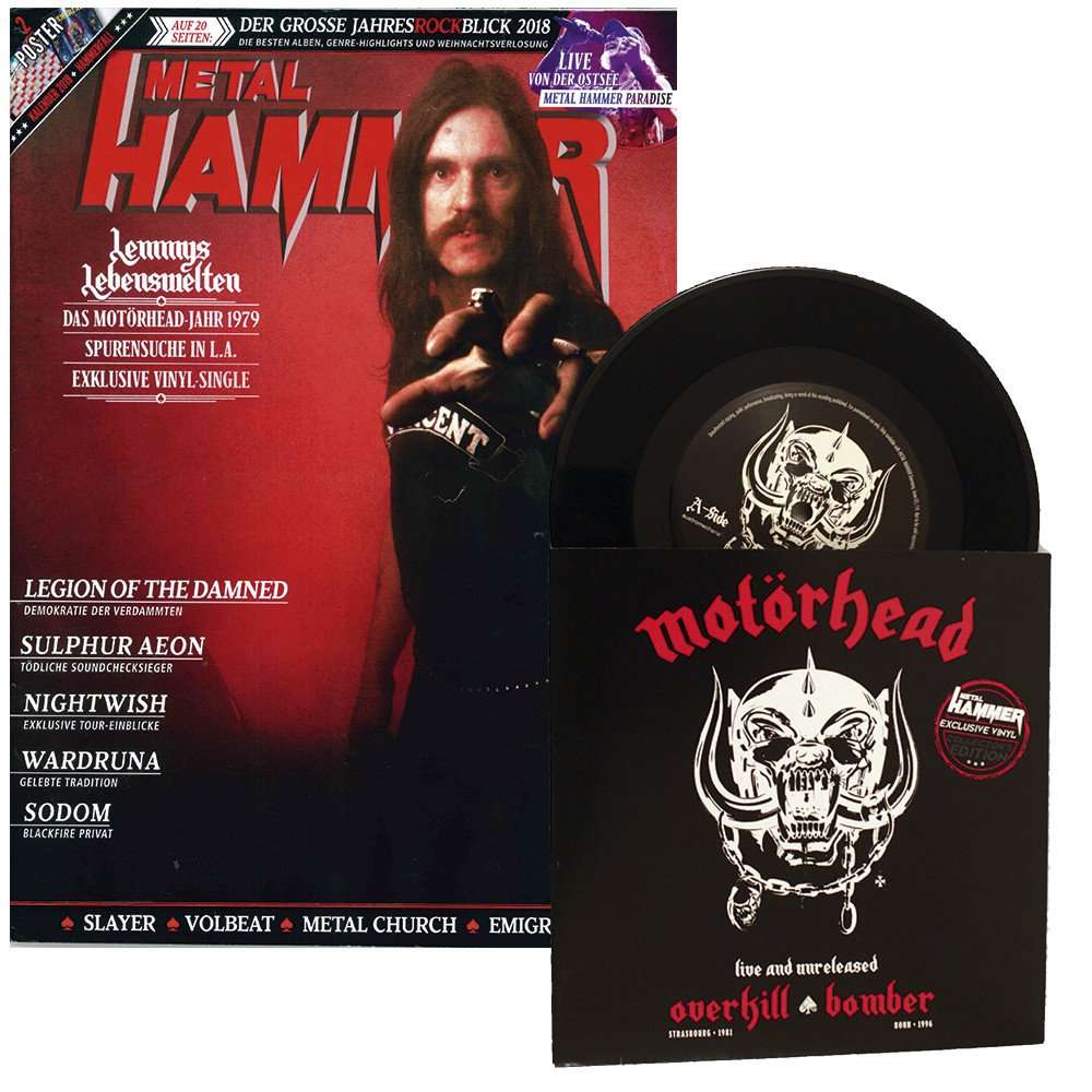 Motörhead Overkill / Bomber (Live And Unreleased) (7') Ltd Promo With Magazine -Ger
