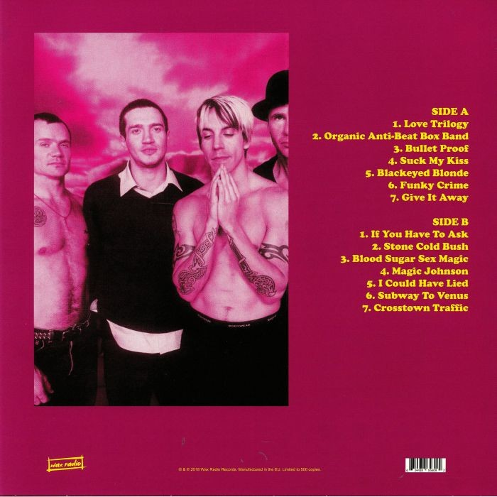 Red Hot Chili Peppers ‎ Live at the Pat O'Brien Pavillion, Del Mar, CA. 1991 - Westwood One FM Broadcast (lp) Ltd Edit -E.U