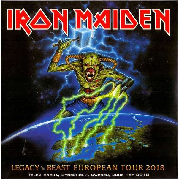 Iron Maiden Legacy of The Beast European Tour 2018 Live In Stockholm (2xcd) Ltd Edit Digipack -E.U