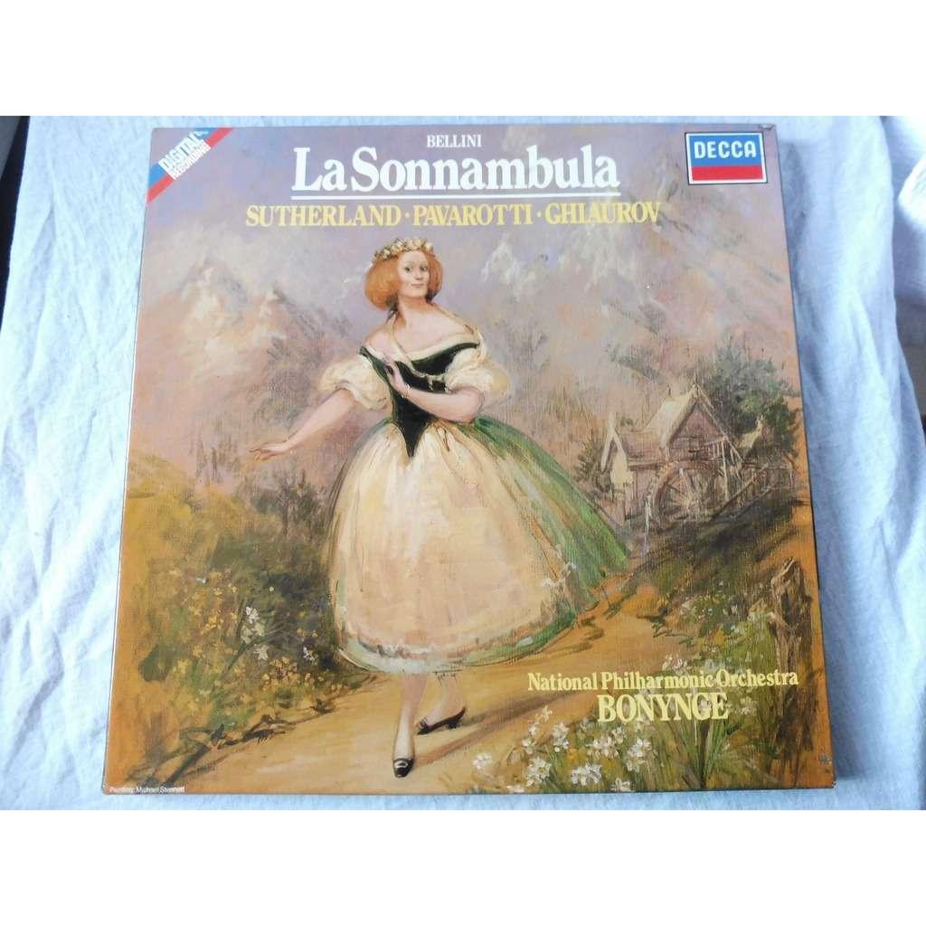 Bonynge / Sutherland, Pavarotti, Ghiaurov Bellini - La Sonnambula - ( 3 lp set box stéréo mint condition )