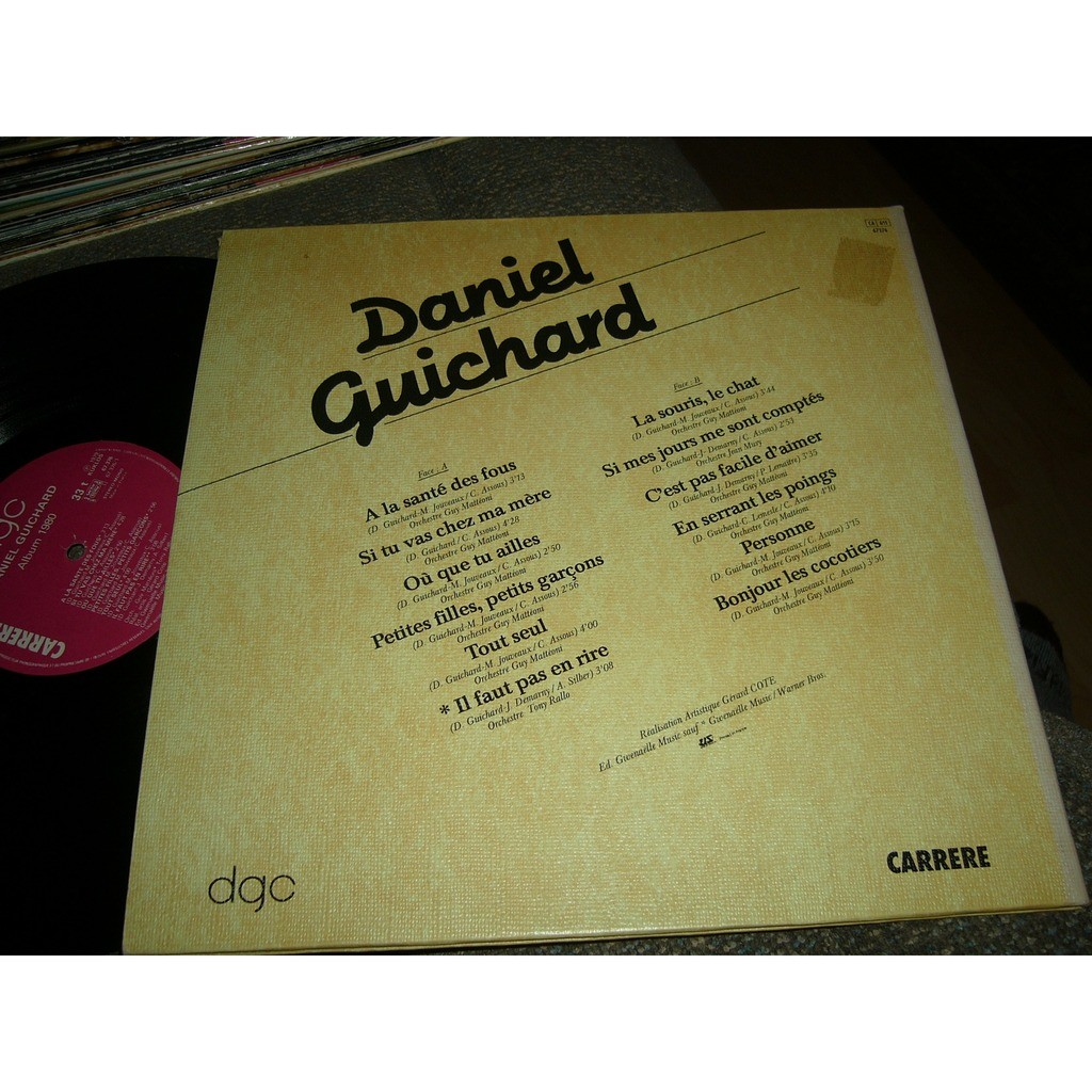 daniel guichard album 1980 pressage canadien