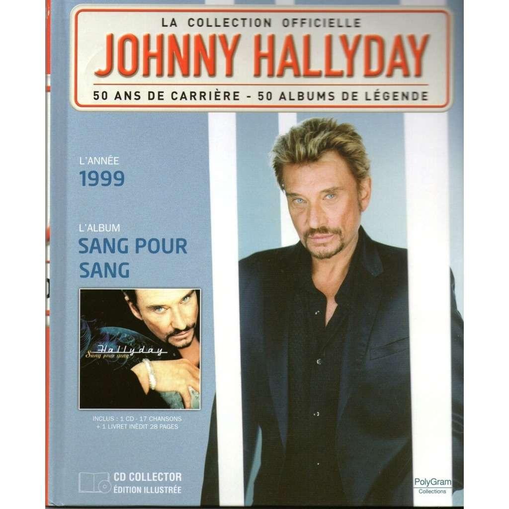 johnny hallyday Année 1999- Sang pour Sang - ( Livre 28 Pages illustrées + CD 17 Chansons )