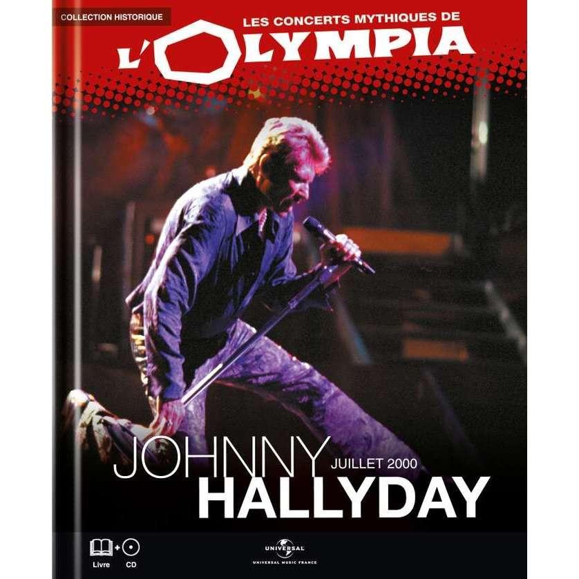 johnny hallyday Les Concerts Mythiques de L'olympia - Juillet 2000 ( Livre 28 Pages illustrées + CD 12 Chansons )