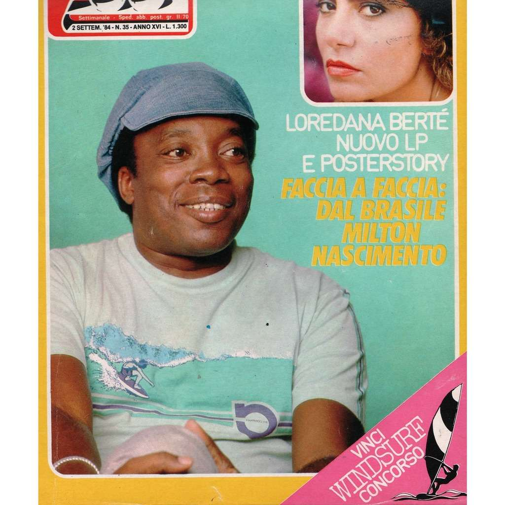 Milton Nascimento Ciao 2001 (02.09.1984) (Italian 1984 Milton Nascimento front cover magazine!)