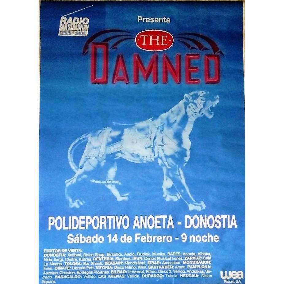 The Damned Polideportivo de Anoeta San Sebastián 14.02.1987 (Spanish 1987 original blu promo Concert poster!)