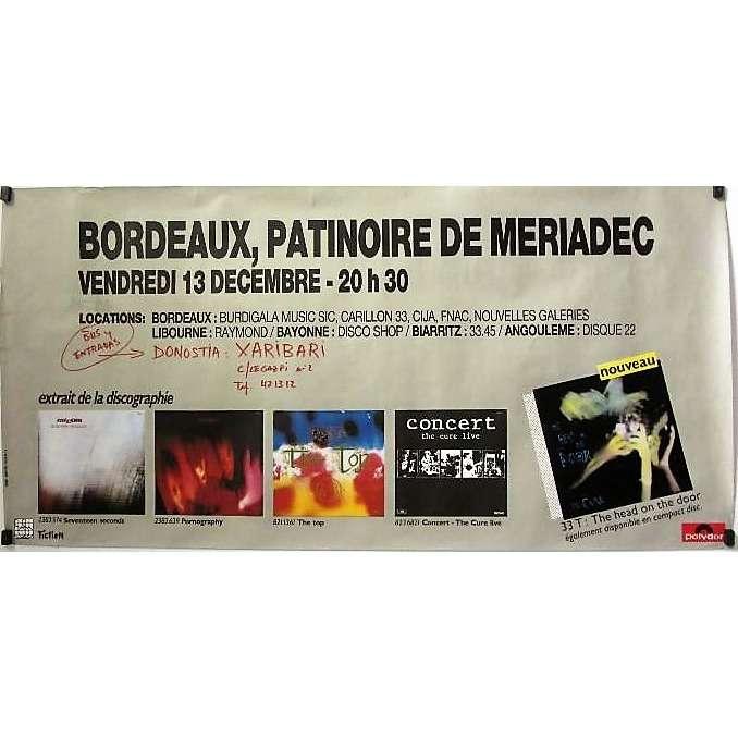 The Cure Bordeaux Patinoire De Meriadec 13.12.1985 (French 1985 original Polydor promo Concert poster!!)