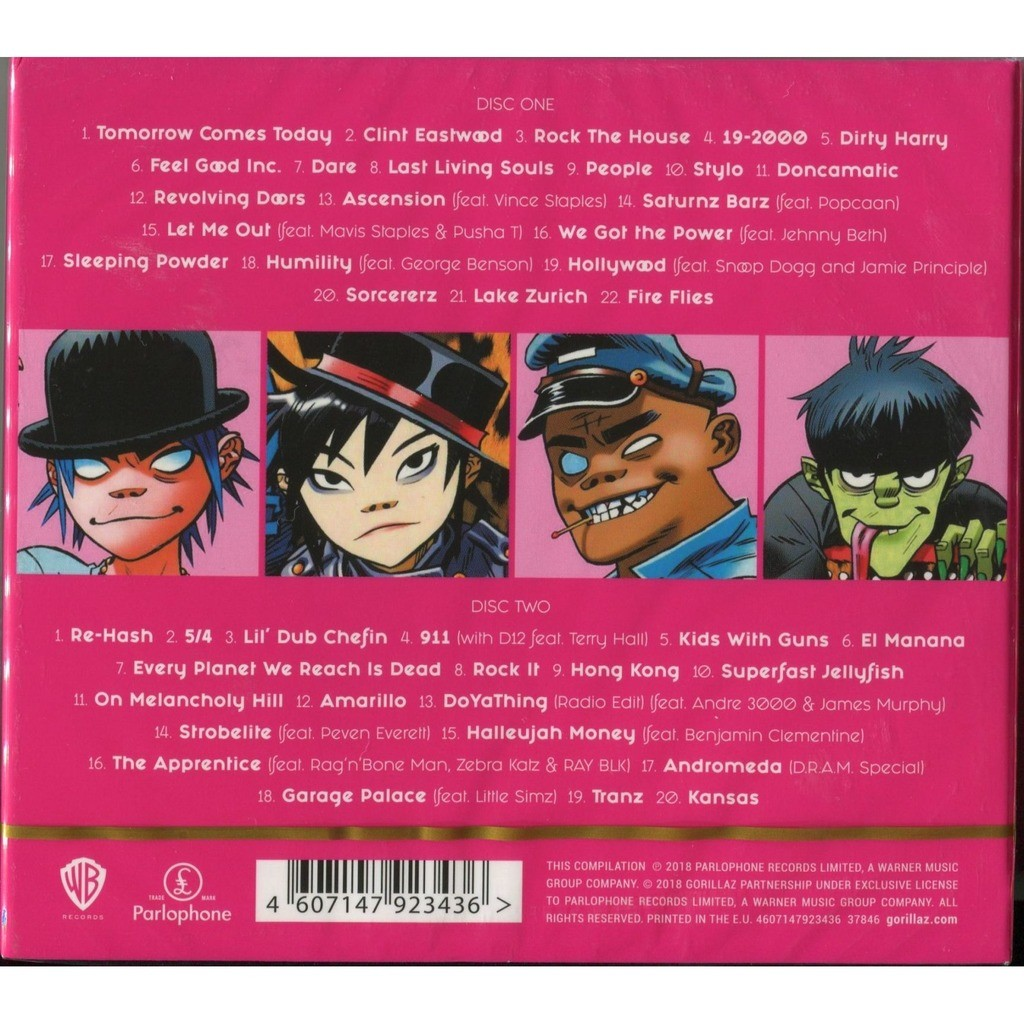 Gorillaz Greatest Hits (2018) 2CD Digipak - New and Factory Sealed