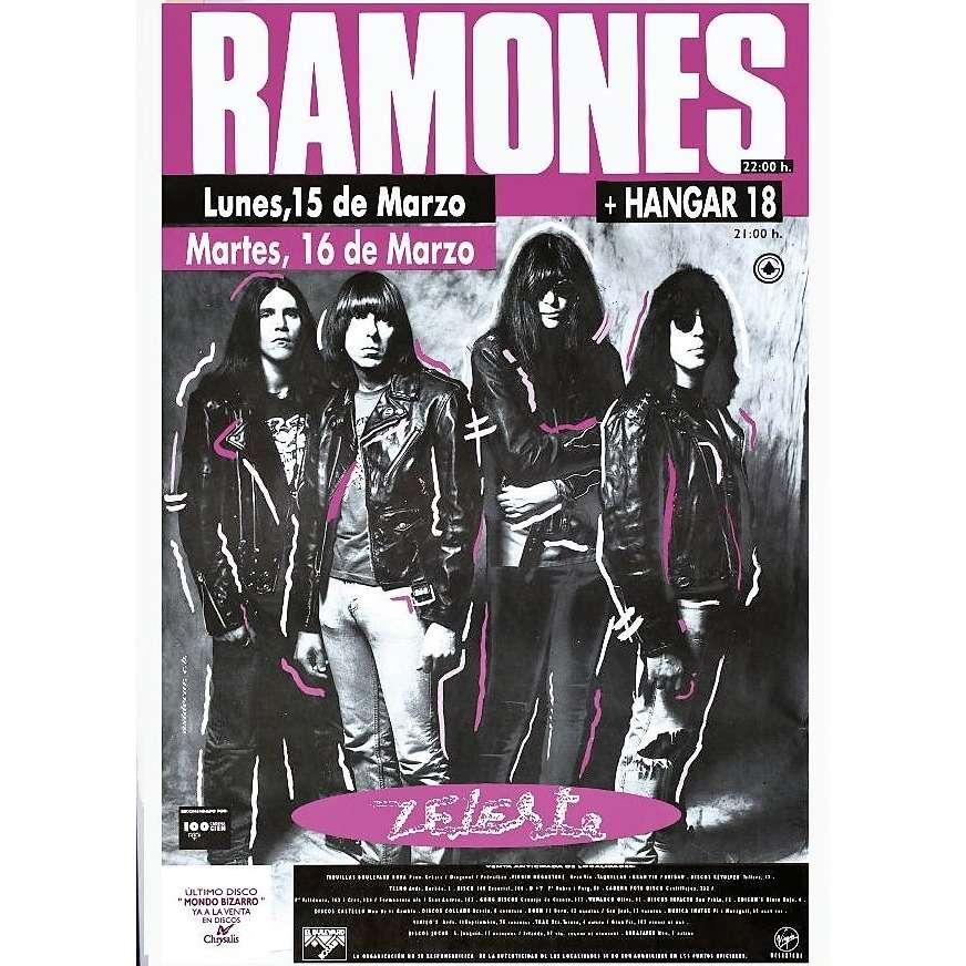 ramones Barcelona Zeleste ES 15/16.03.1993 (Spanish 1993 original Chrysalis promo large wall Concert poster)