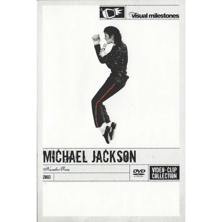 MICHAEL JACKSON - NUMBER ONES (EURO PRESSING 1 DVD)