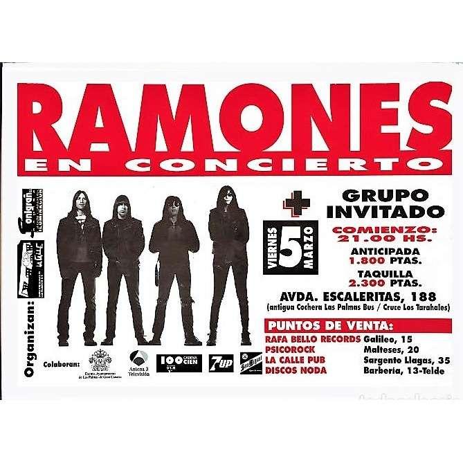 RAMONES Las Palmas ES 05.03.1993 (Spanish 1993 original promo Concert Poster!!)