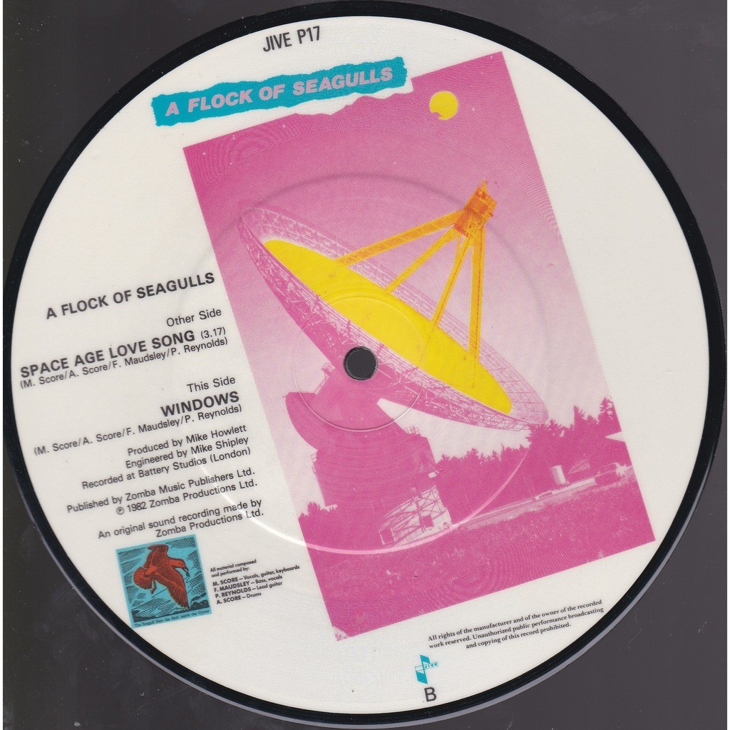 Space age love song - (picture disc) by A Flock Of Seagulls, 7inch x 1 with  mabuse