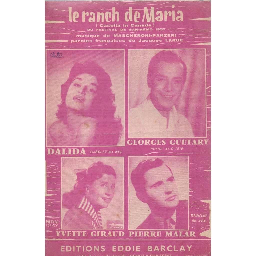 Dalida le ranch de MARIA(festival de san remo 1957).
