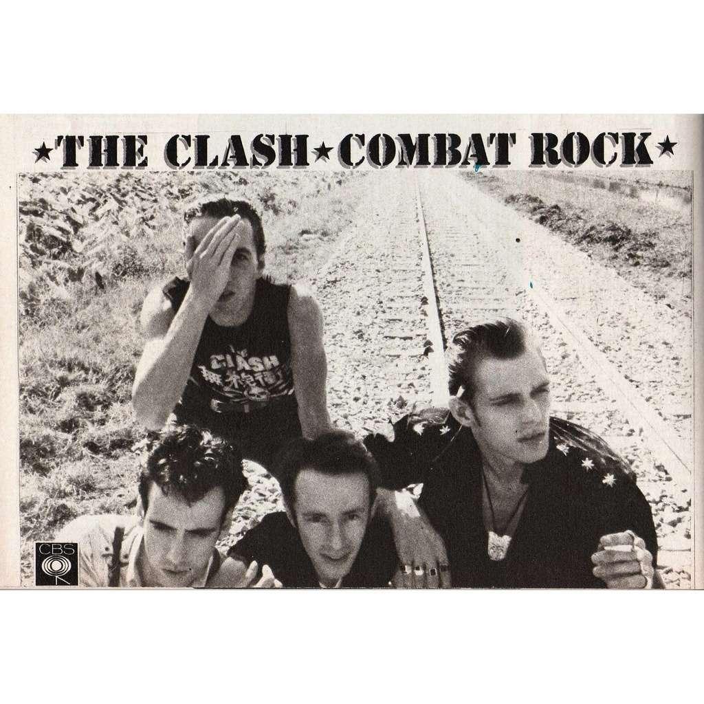 The Clash Combat Rock (Italian 1982 'CBS' promo type advert 'album release' flyer!)