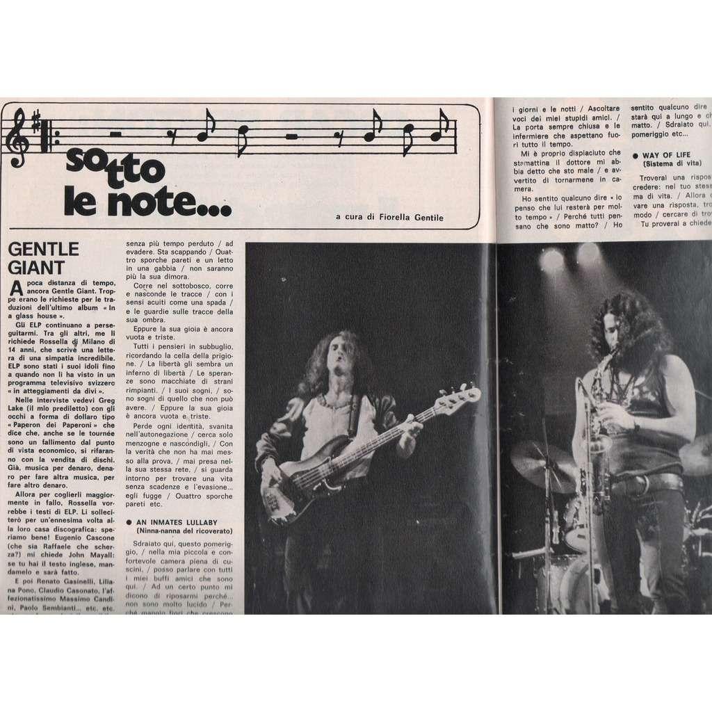Gentle Giant Ciao 2001 (02.12.1973) (Italian 1973 music magazine!!)