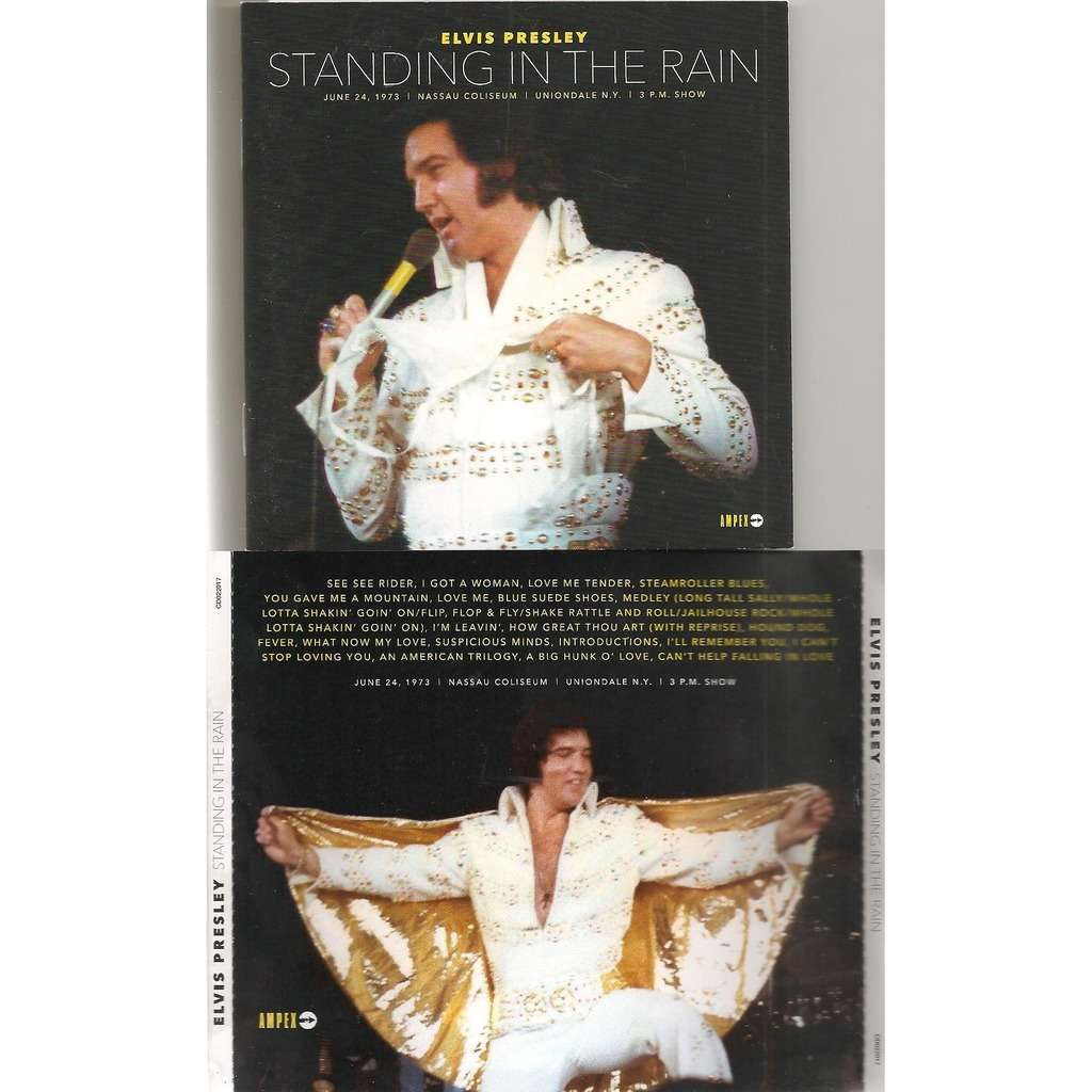 elvis presley 1 cd standing in the rain 24/6/73 uniondale 3pm show