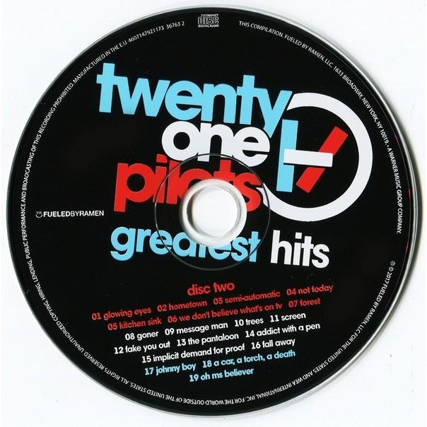 Twenty One Pilots Greatest Hits (2017) 2xCD Digipak Factory-Sealed
