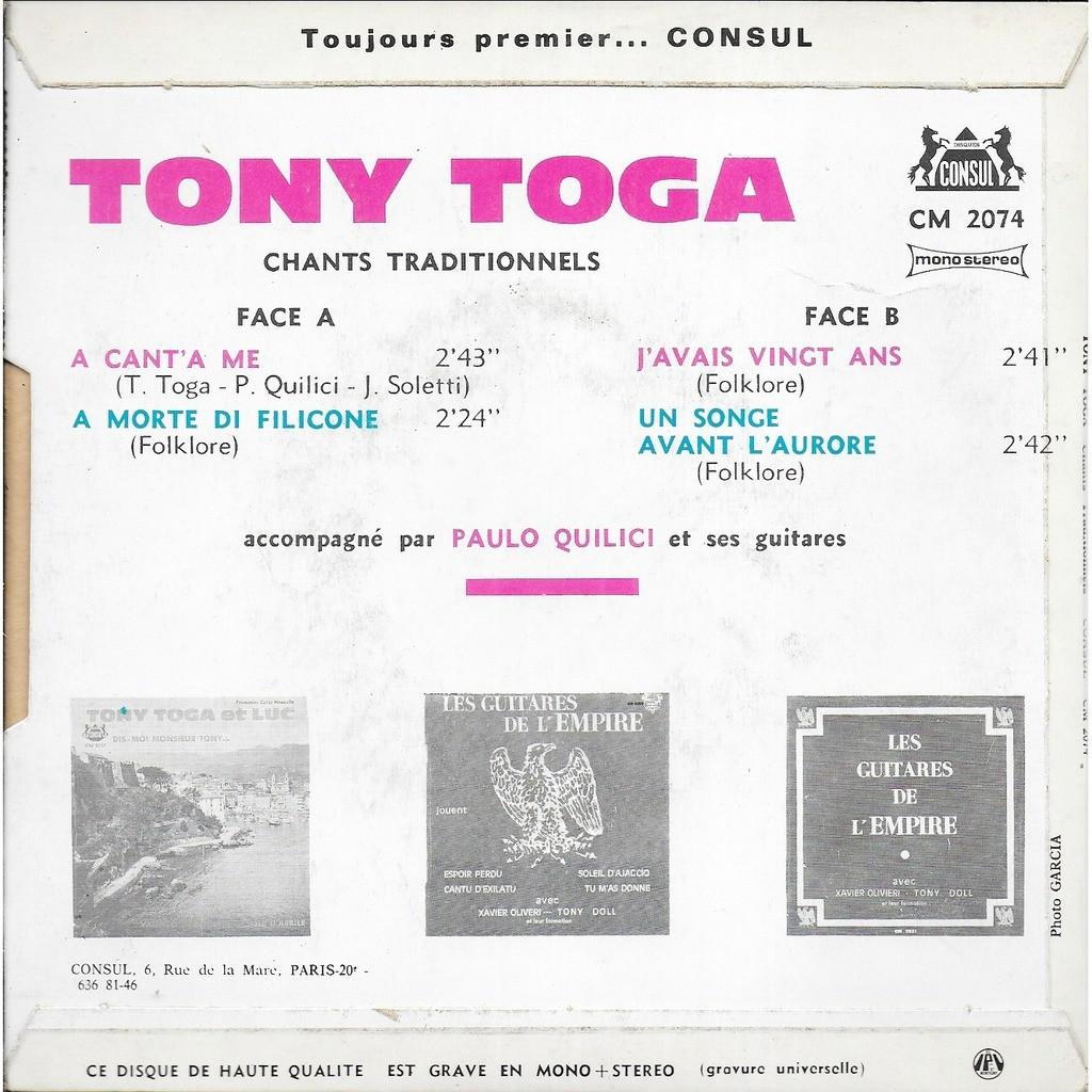 Tony TOGA A cant'a me