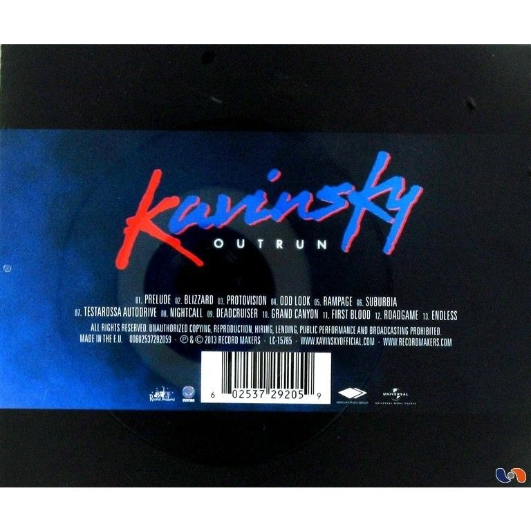 Outrun by Kavinsky, CD with libertemusic