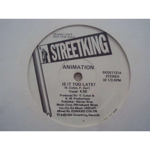 Animation Is It Too Late 1984 USA PROMO COPY