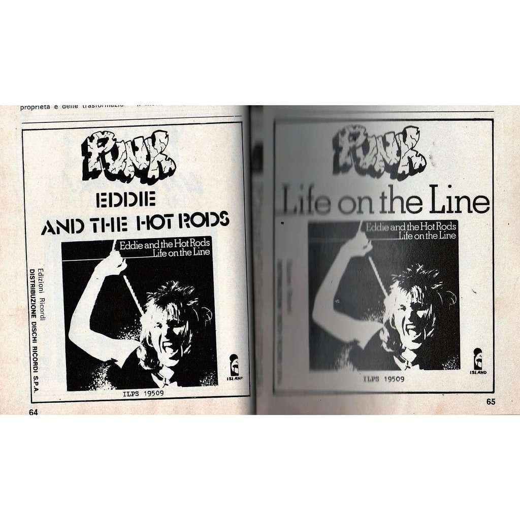 Eddie & The Hot Rods Life On The Line (Italian 1978 'Island-Dischi Ricordi'promo type advert 'album release' punk flyer!)