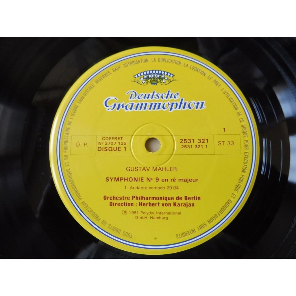 Gustav Mahler/ Berliner Philharmoniker , Herbert v 9. Symphonie D-dur - ( 2 lp set box stéréo mint condition )