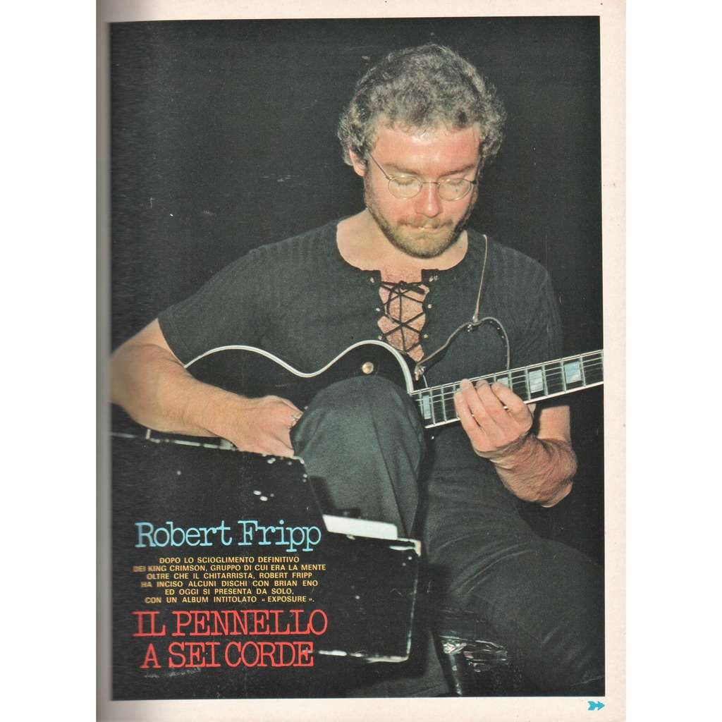 King Crimson / Robert Fripp Ciao 2001 (24.06.1979) (Italian 1979 music magazine!!)
