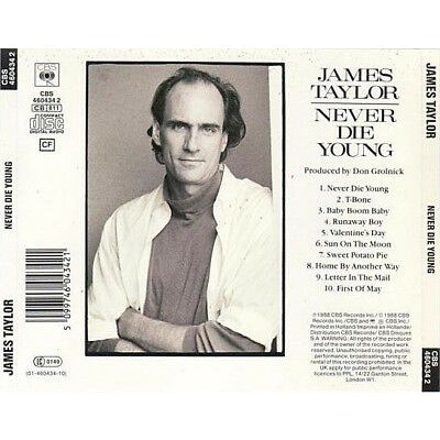 JAMES TAYLOR - NEVER DIE YOUNG (AUS. PRESSING 1 CD)