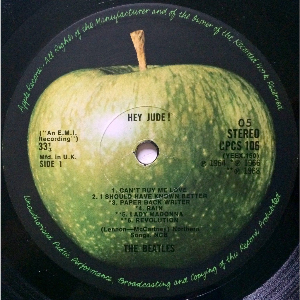 THE BEATLES - HEY JUDE ! (EXTREMELY RARE U.K. EXPORT PRESSING 12 VINYL LP CPCS FOR EXPORT ONLY)