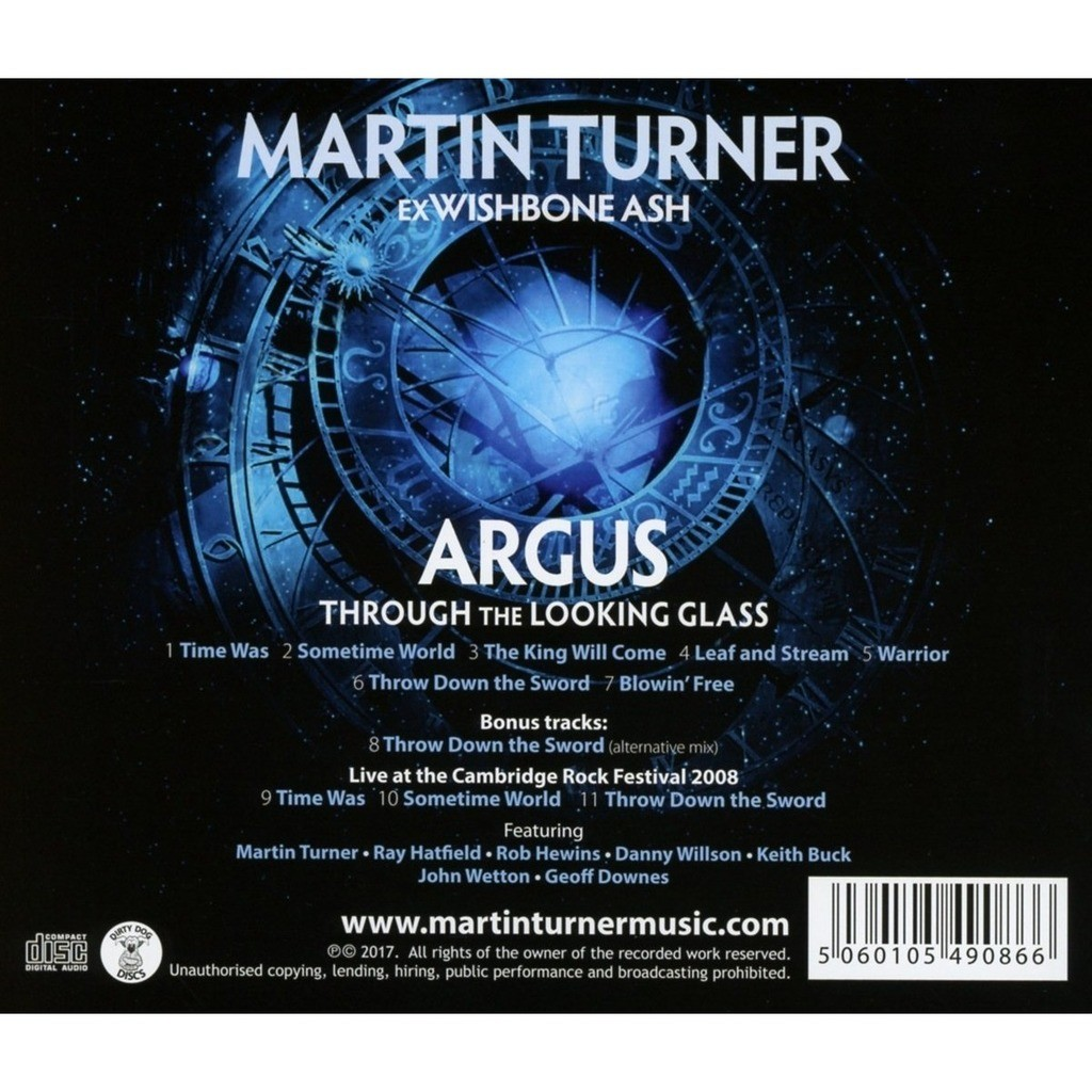 Argus through the looking glass (incl  4 bonuses) by Martin Turner  (Wishbone Ash), CD with kamchatka
