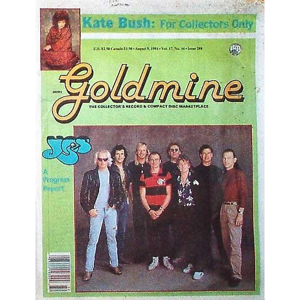 YES Goldmine (09.08.1991) (USA 1991 YES front cover collector's magazine!)