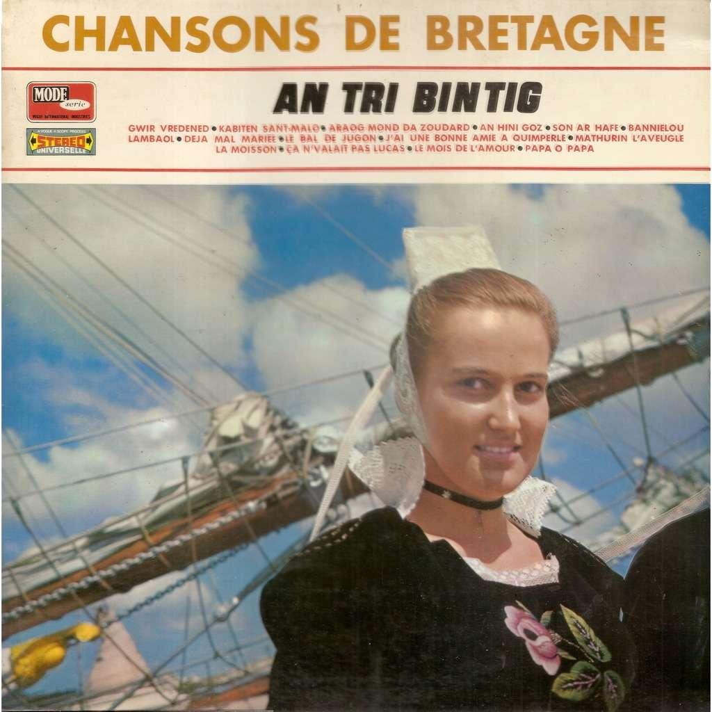 An TRI BINTIG Chansons de Bretagne
