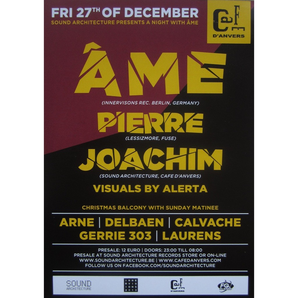 ame / pierre / joachim at cafe d'anvers in antwerp