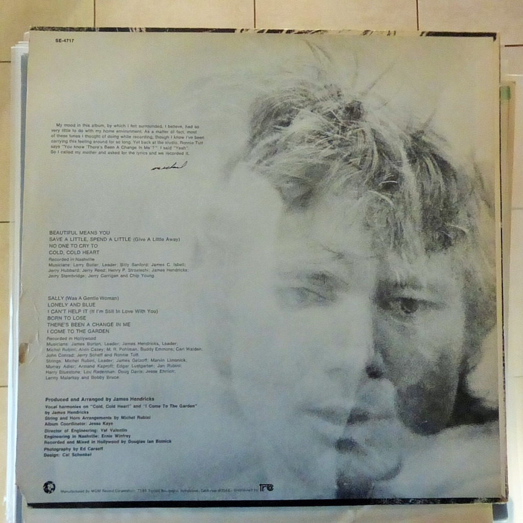 Blue by Michael Parks, LP with blackcircle