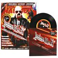 JUDAS PRIEST - Firepower / Breaking The Law (7') Ltd Promo With Magazine -Ger - 45T + Livre