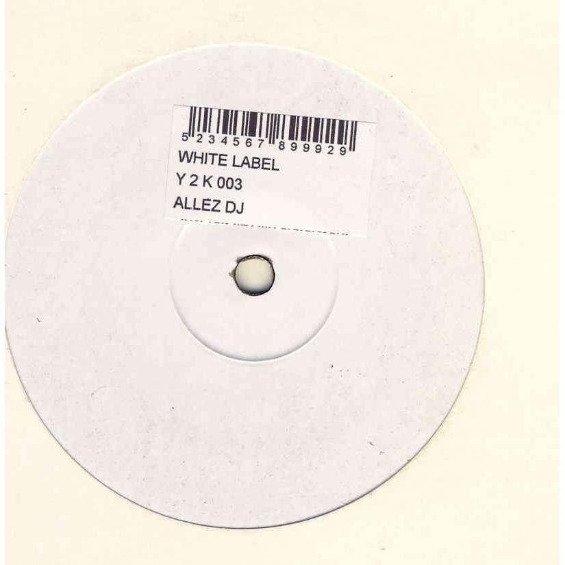 White Label : Allez DJ White Label : Allez DJ Disque Promo Y2 K003 Label