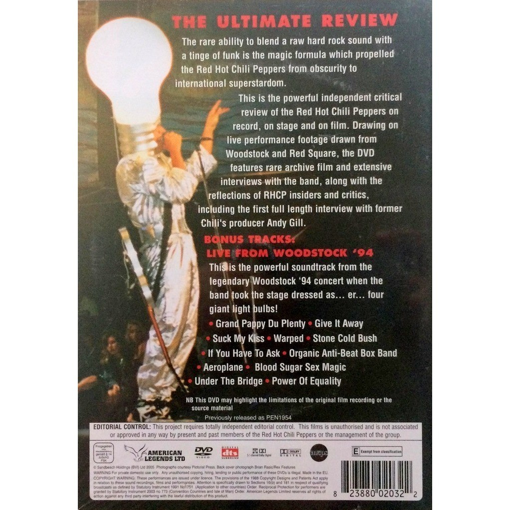 RED HOT CHILI PEPPERS - THE ULTIMATE REVIEW (SEALED EURO PRESSING 1 DVD)