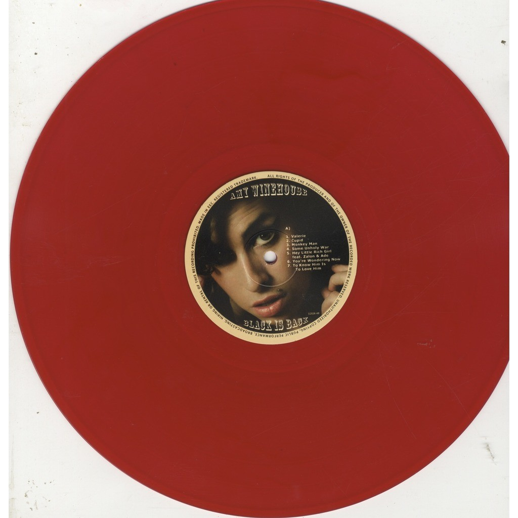 amy winehouse black is back red vinyl