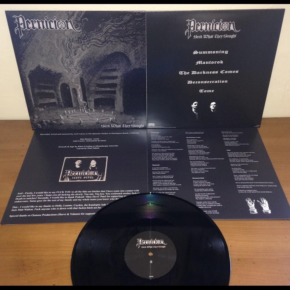PERNICION Seek What They Sought. Black Vinyl