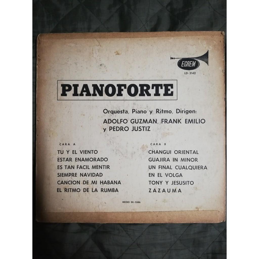Pedro Justiz Peruchin, Adolfo Guzman, Frank Emilio PIANOFORTE