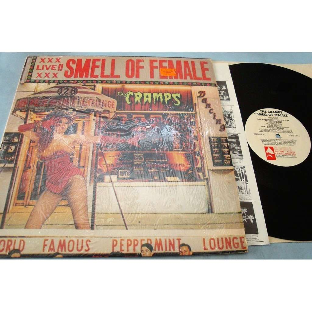 Cramps Smell of Female (USA 1983 original 6-trk LP on Enigma lbl full ps & insert!!)