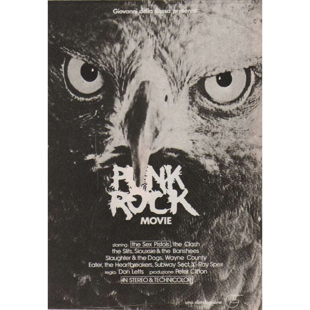 The Clash / Siouxsie & The banshees Punk Rock Movie (iTALIAN 1981 promo type advert 'Film release' punk flyer!!)
