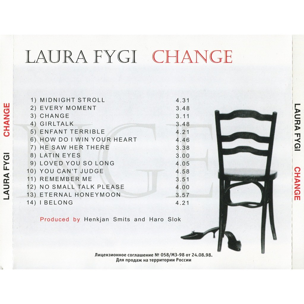 LAURA FYGI CHANGE (Limited Edition - PN-323) CD