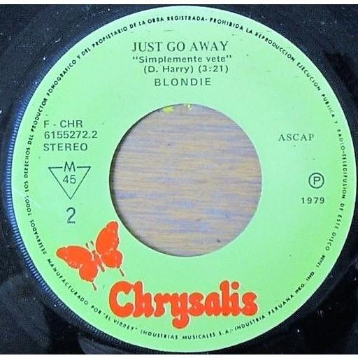 Blondie De Una Forma U Otra (Peruvian 1979 original 2-trk 7single on spanish titles Chrysalis-El Virrey lbl)