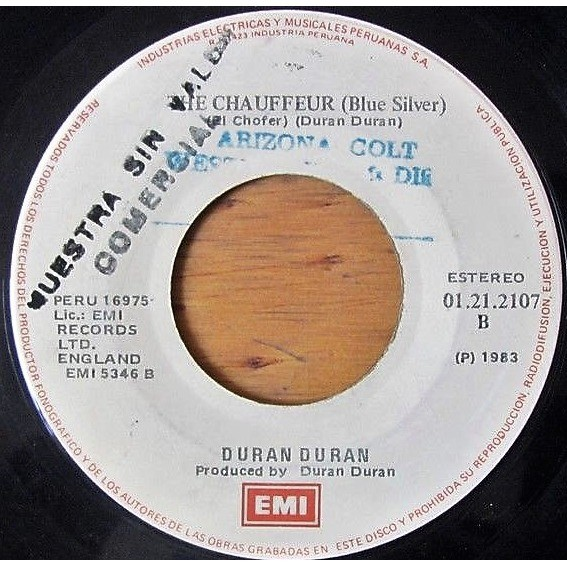 Duran Duran Rio (Peruvian 1983 original 2-trk promo 7single on spanish titles EMI-Iempsa lbl Co. slv)