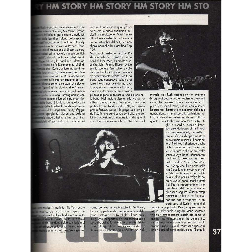 Rush H/M (Year VII N.127 1992) (Italian 1992 music magazine!)