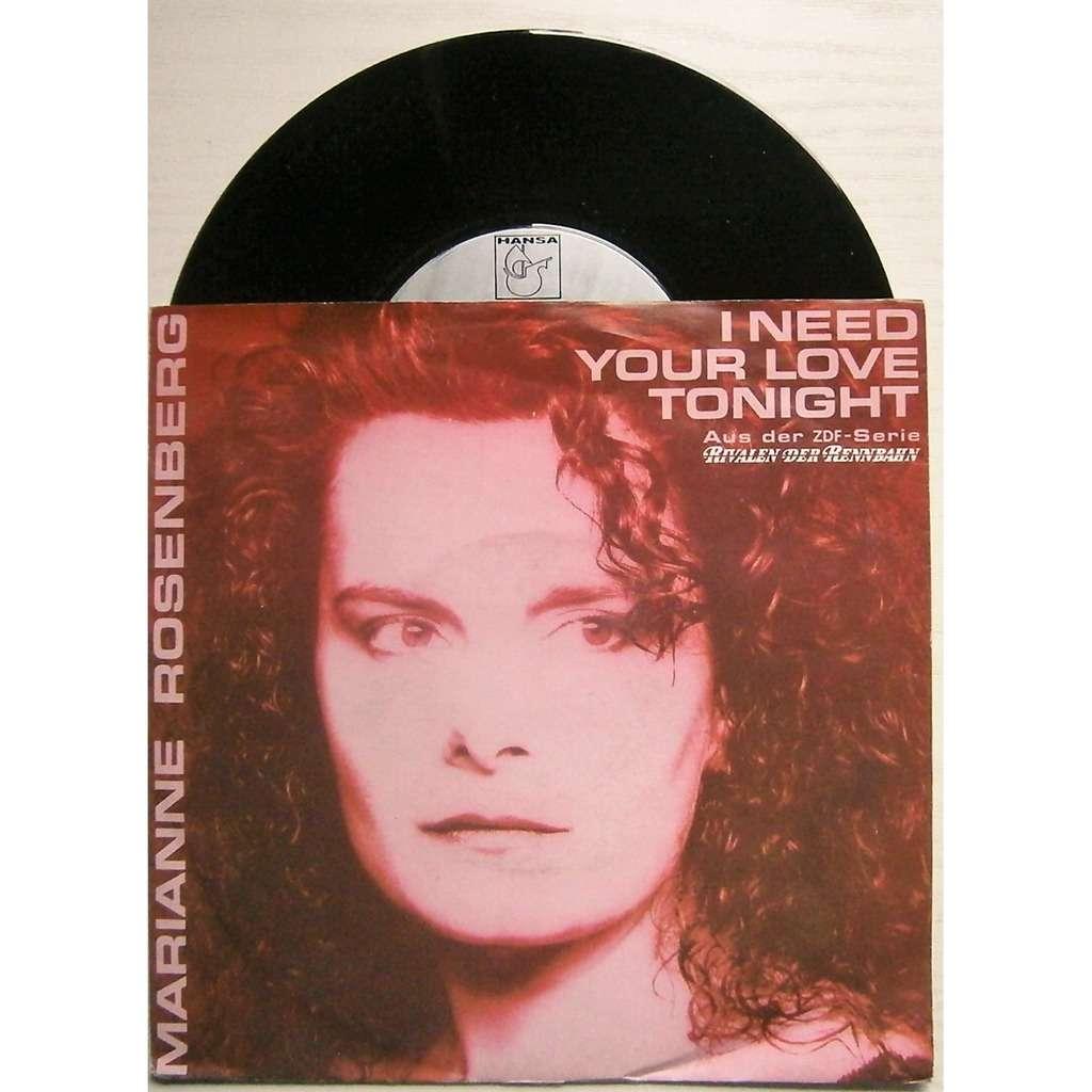 marianne rosenberg i need your love tonight