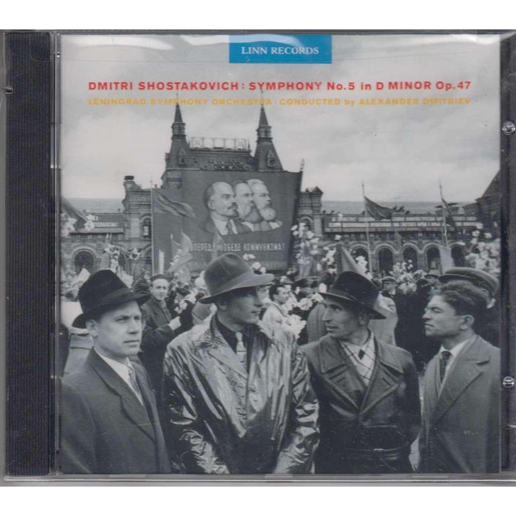 ALEXANDER DMITRIEV Shostakovich Symphony 5 CD NEW