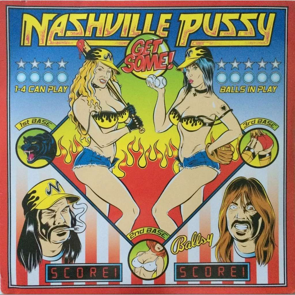 NASHVILLE PUSSY - GET SOME ! (SEALED GER. PRESSING 12 VINYL LP + CD)