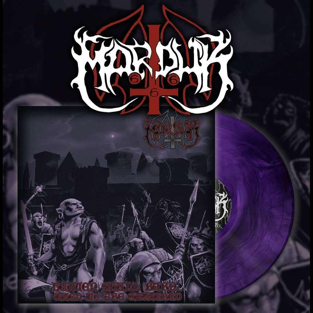 MARDUK Heaven Shall Burn...When we are Gathered. Purple Marble Vinyl